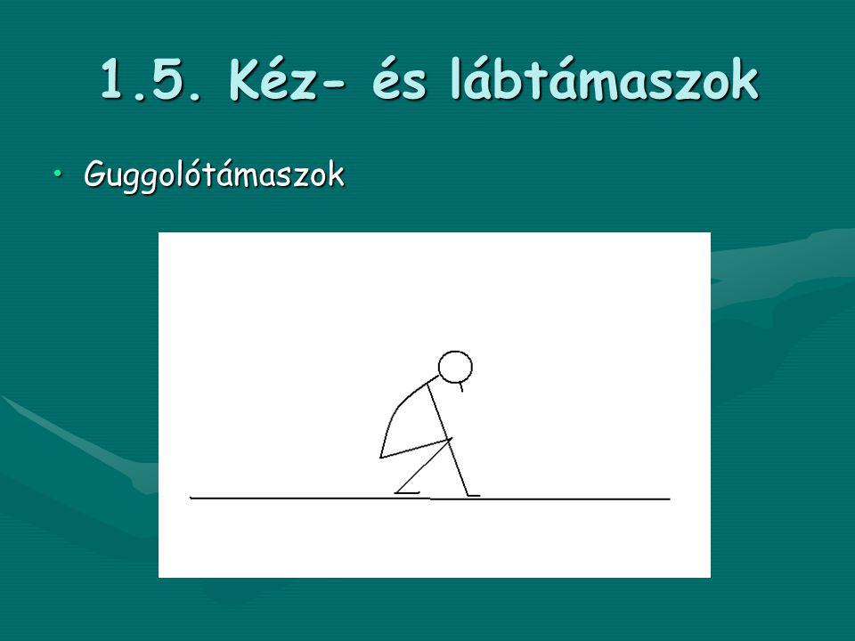 1.5. Kéz- és lábtámaszok •Guggolótámaszok