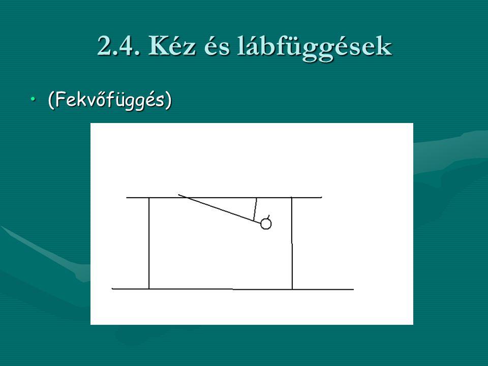 2.4. Kéz és lábfüggések •(Fekvőfüggés)