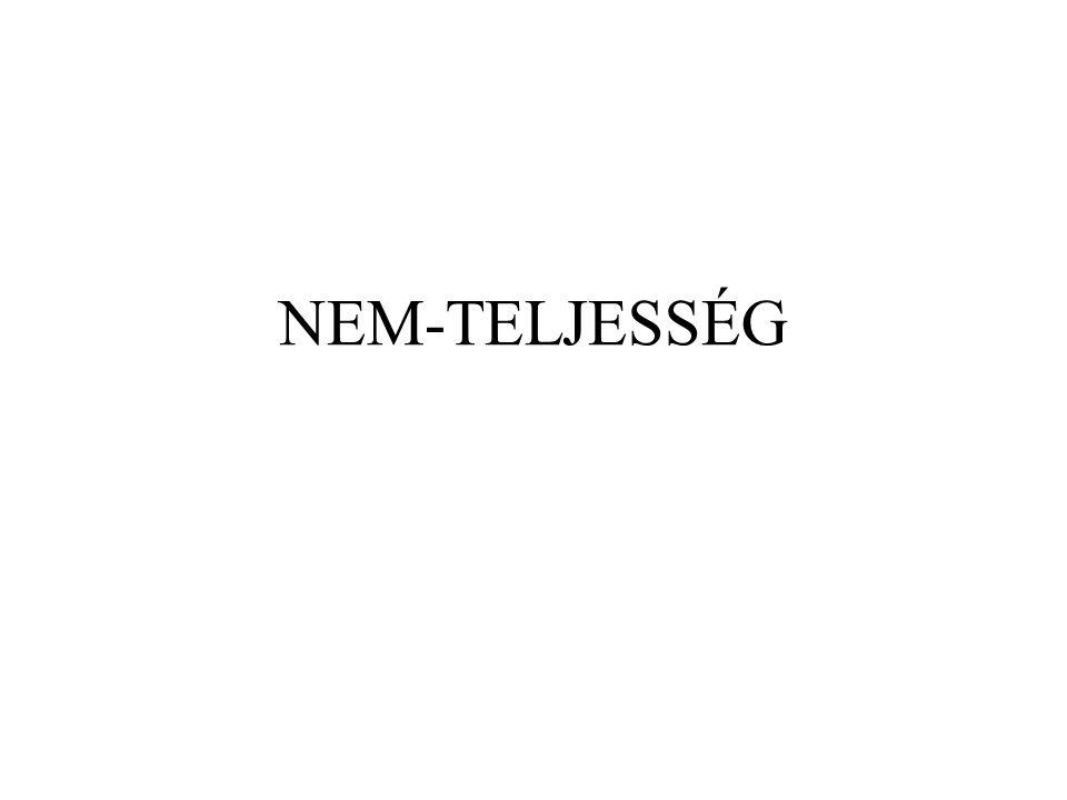NEM-TELJESSÉG