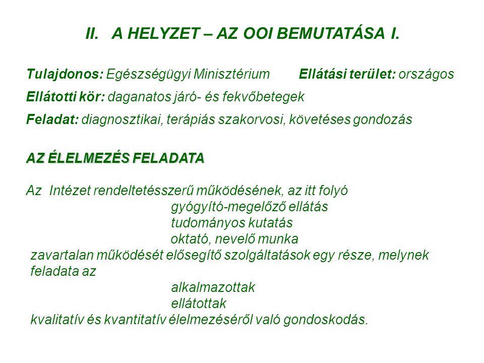 II.A HELYZET – AZ OOI BEMUTATÁSA II.