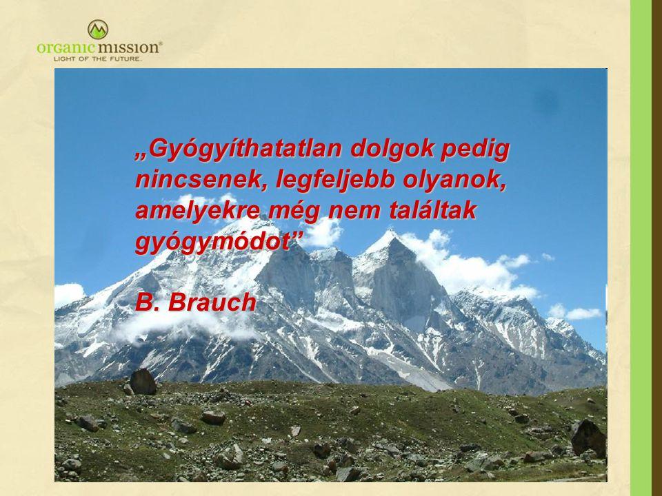 """""""Gyógyíthatatlan dolgok pedig nincsenek, legfeljebb olyanok, amelyekre még nem találtak gyógymódot"""" B. Brauch B. Brauch"""