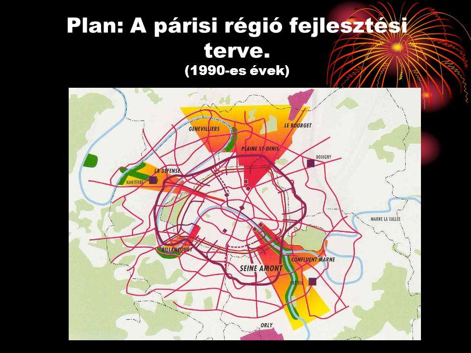 Plan: A párisi régió fejlesztési terve. (1990-es évek)