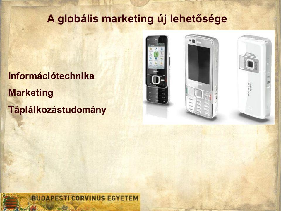 A globális marketing új lehetősége Információtechnika Marketing Táplálkozástudomány