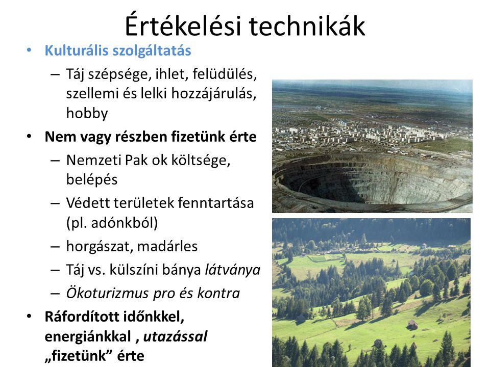 Miről is beszéltem.• Mik azok az ökoszisztéma szolgáltatások.
