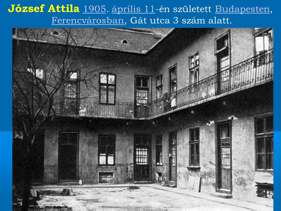 József Attila 1905.
