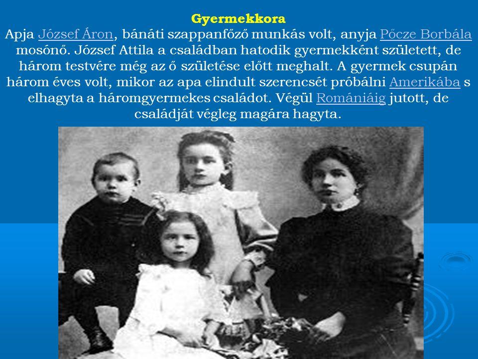 Az édesanyának csak nagy nehézségek árán sikerült gyermekeit eltartani, végül két kisebb gyermekét Öcsödre adta (három évre) nevelőszülőkhöz.Öcsödre