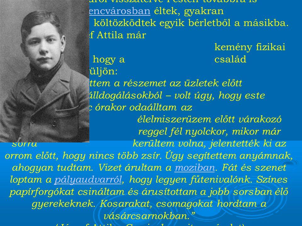 A költőt először Balatonszárszón temették el, majd 1942-ben a budapesti Kerepesi temetőbe került örök nyugalomra.