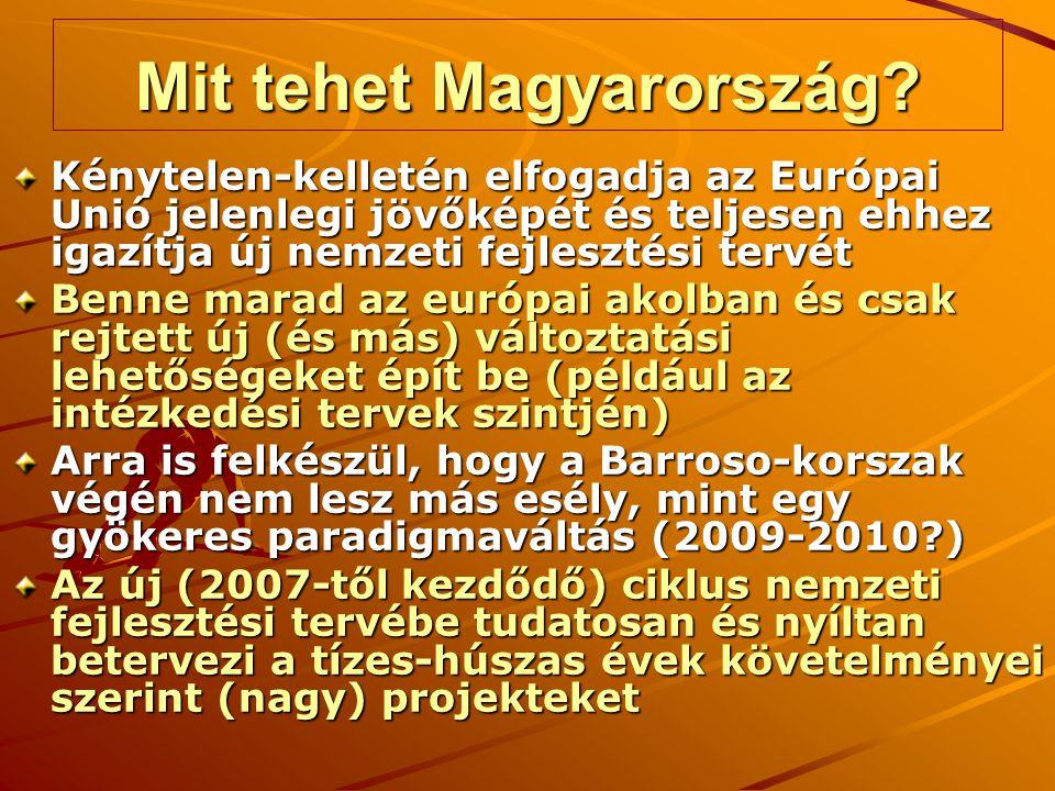 Mit tehet Magyarország? Kénytelen-kelletén elfogadja az Európai Unió jelenlegi jövőképét és teljesen ehhez igazítja új nemzeti fejlesztési tervét Benn
