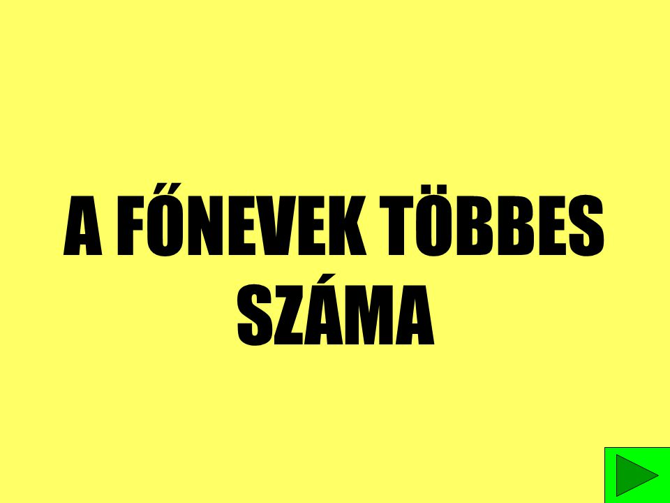 BIRTOKOS NÉVMÁS GYAKORLÁSA 1.FIAM---FIAMAT MEGOLDÁS 2.