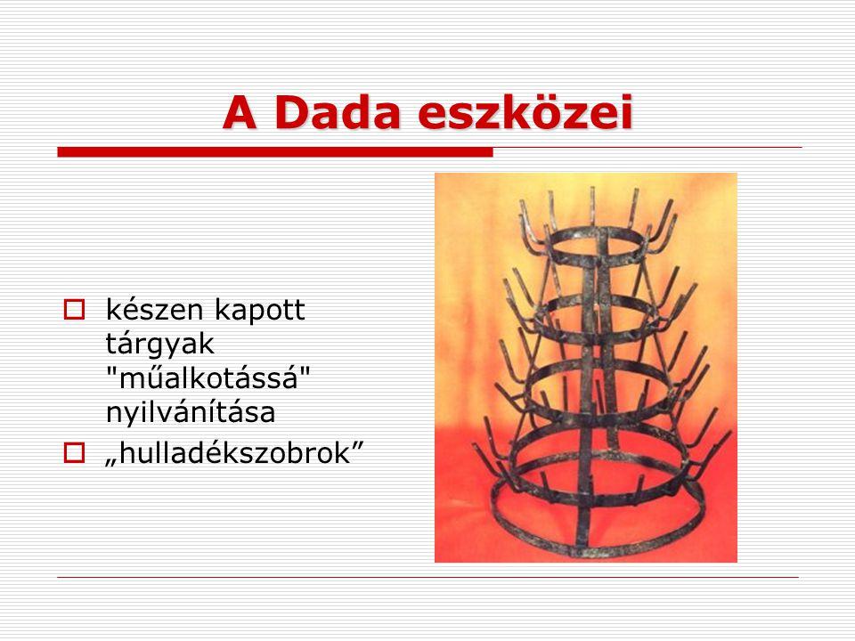 A Dada eszközei  készen kapott tárgyak