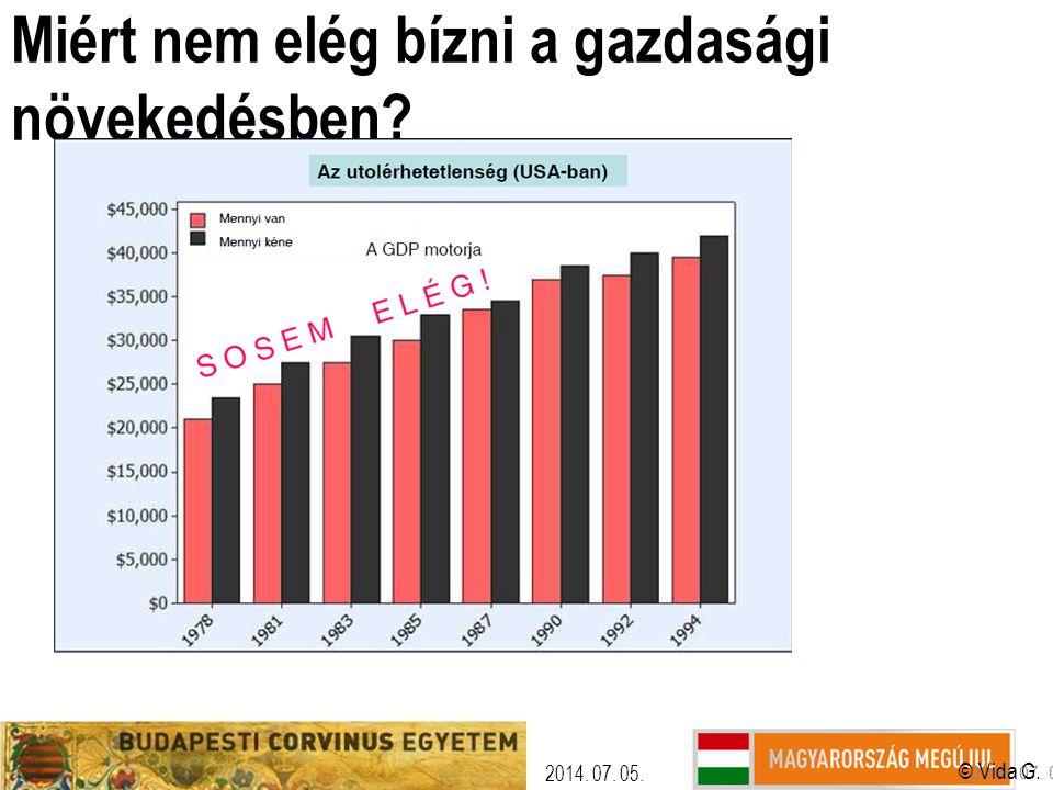 Miért nem elég bízni a gazdasági növekedésben? © Vida G. 2014. 07. 05.