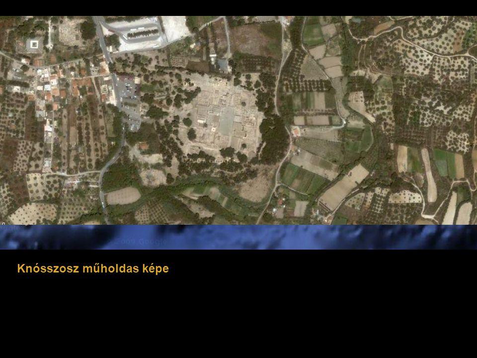 Knósszosz műholdas képe