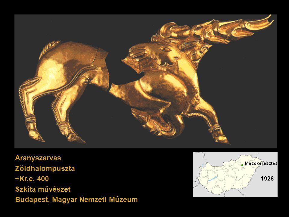 Aranyszarvas Zöldhalompuszta ~Kr.e. 400 Szkíta művészet Budapest, Magyar Nemzeti Múzeum 1928