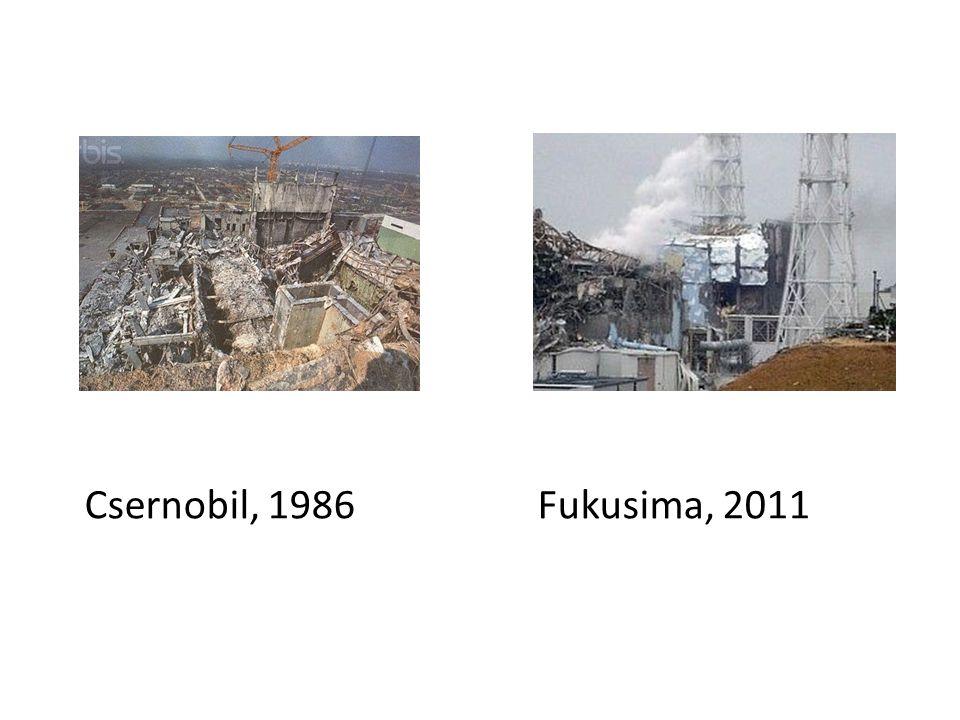 Csernobil, 1986 Fukusima, 2011