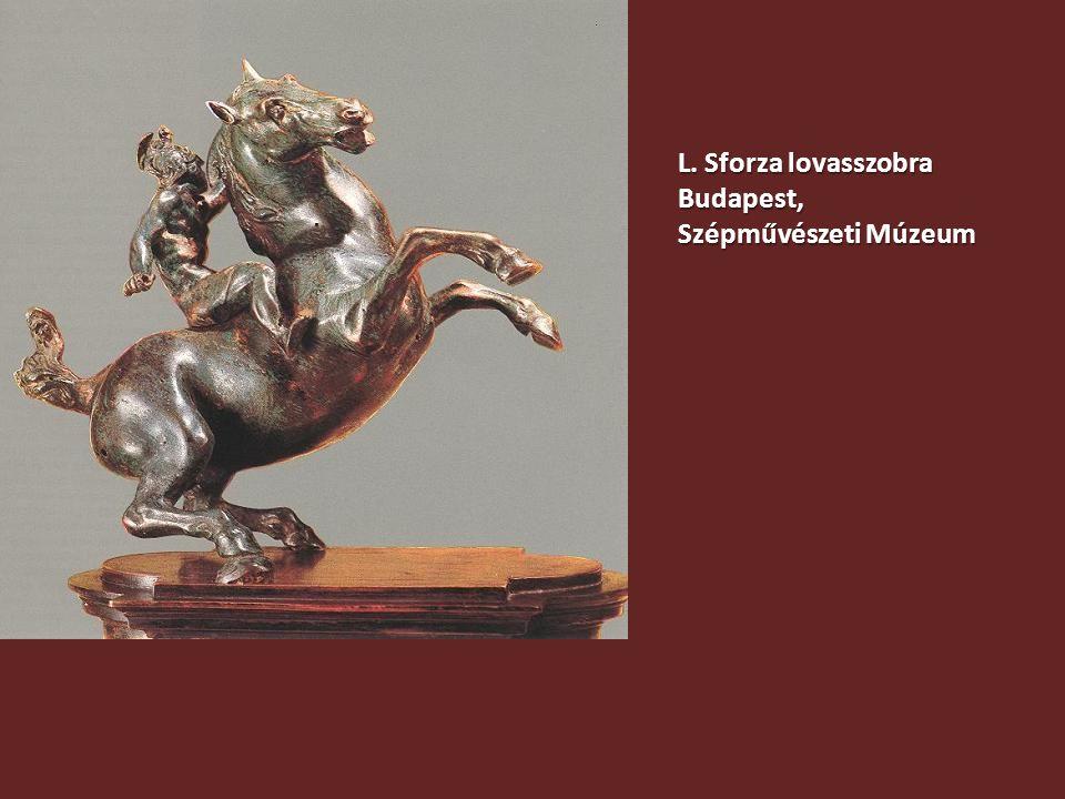 L. Sforza lovasszobra Budapest, Szépművészeti Múzeum