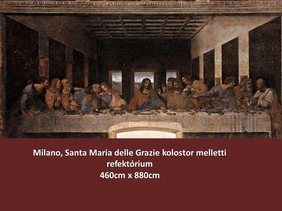 Milano, Santa Maria delle Grazie kolostor melletti refektórium 460cm x 880cm