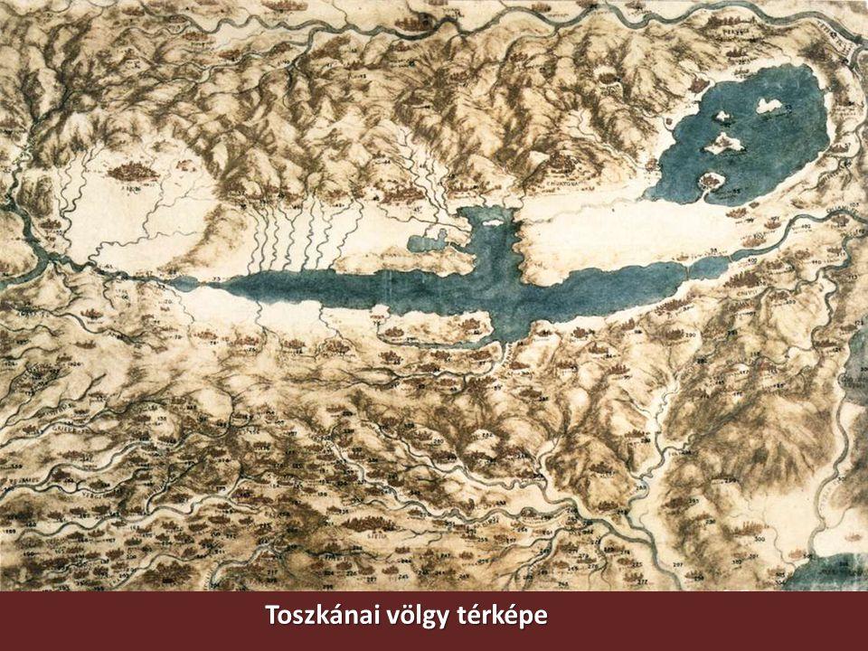 Toszkánai völgy térképe