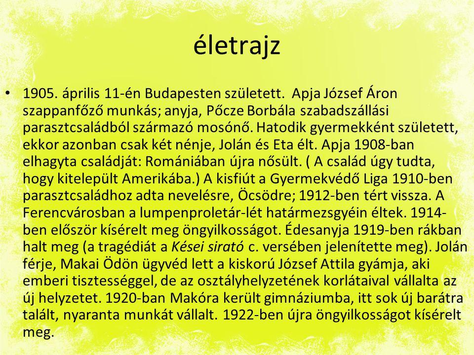 életrajz • 1905.április 11-én Budapesten született.