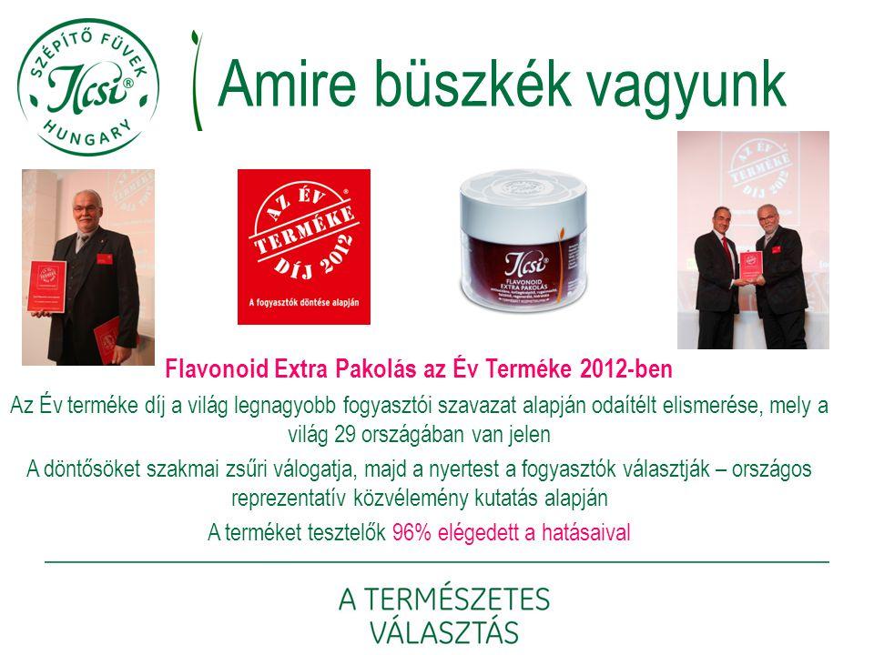 Flavonoid Extra Pakolás az Év Terméke 2012-ben Az Év terméke díj a világ legnagyobb fogyasztói szavazat alapján odaítélt elismerése, mely a világ 29 o
