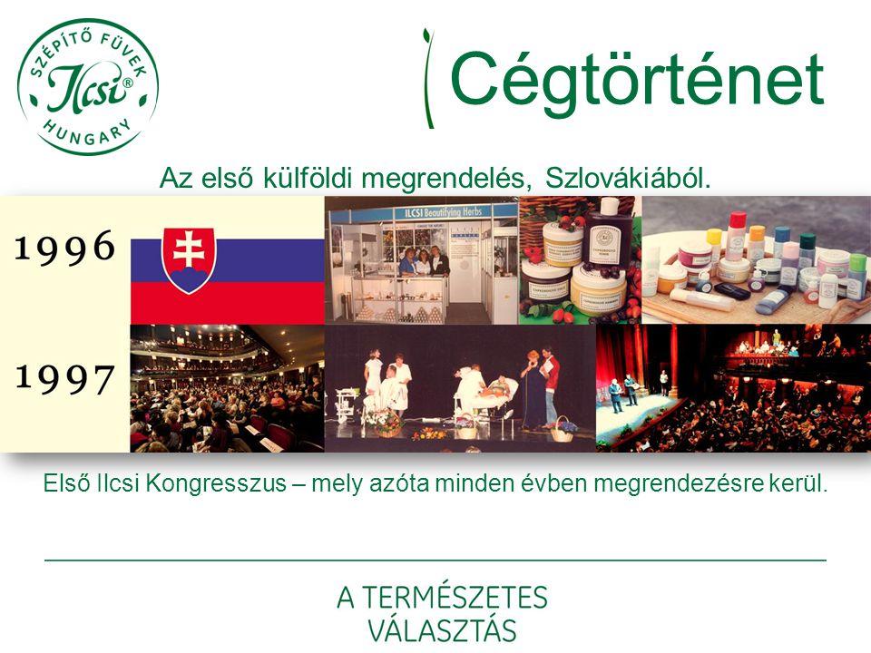 Cégtörténet Az első külföldi megrendelés, Szlovákiából. Első Ilcsi Kongresszus – mely azóta minden évben megrendezésre kerül.