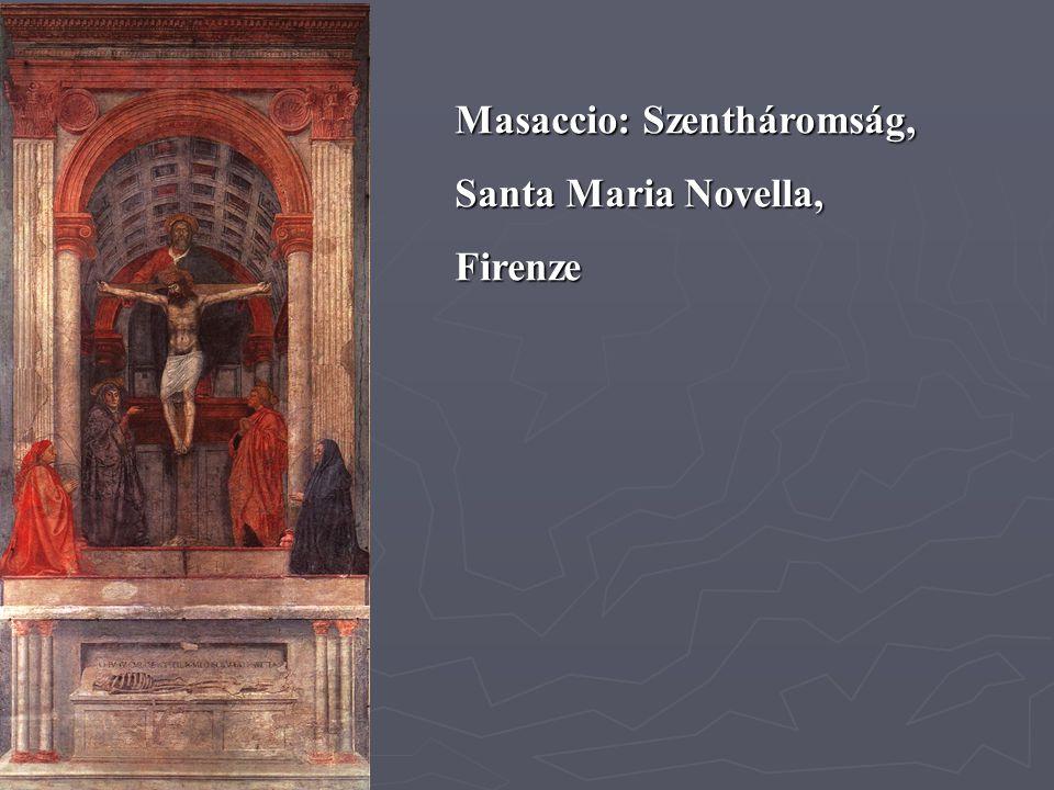 Masaccio: Szentháromság, Santa Maria Novella, Firenze