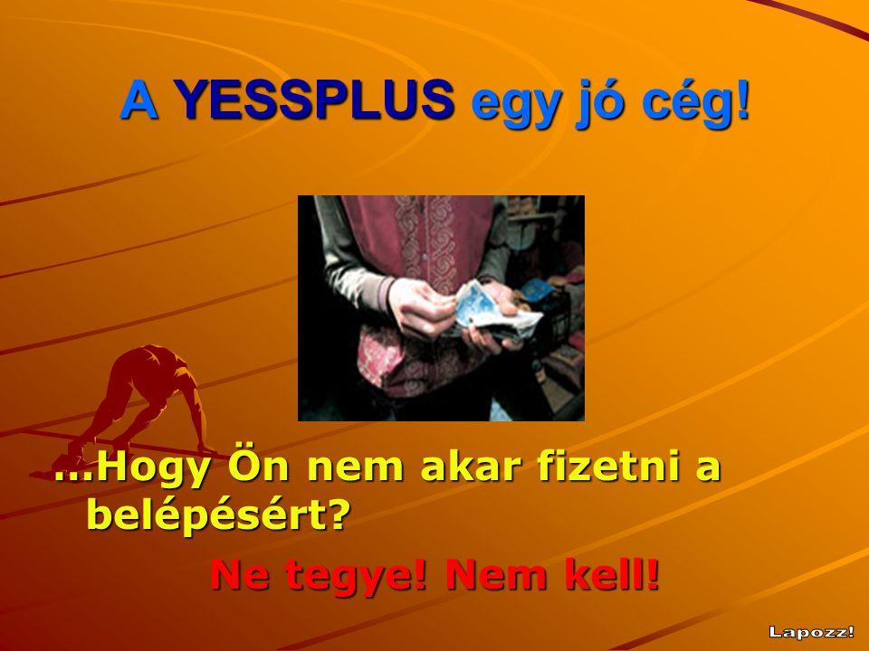 A YESSPLUS egy jó cég ! …Hogy Ön nem akar fizetni a belépésért? Ne tegye! Nem kell!