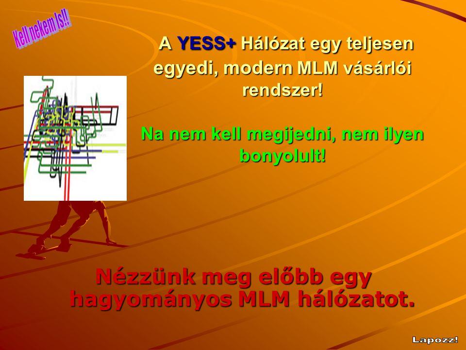 A YESS+ Hálózat egy teljesen egyedi, modern MLM vásárlói rendszer! Na nem kell megijedni, nem ilyen bonyolult! A YESS+ Hálózat egy teljesen egyedi, mo