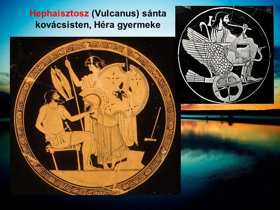 Hephaisztosz (Vulcanus) sánta kovácsisten, Héra gyermeke