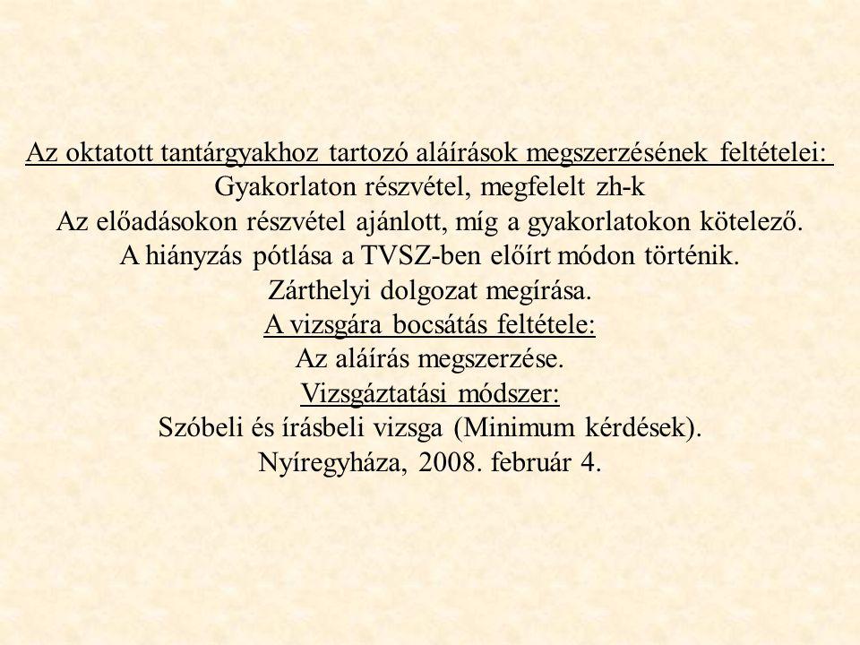 BELSŐ NEMISZERVEK ÉR ELLÁTÁSA