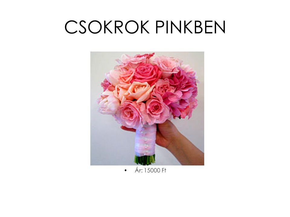 CSOKROK PINKBEN •Ár: 15000 Ft