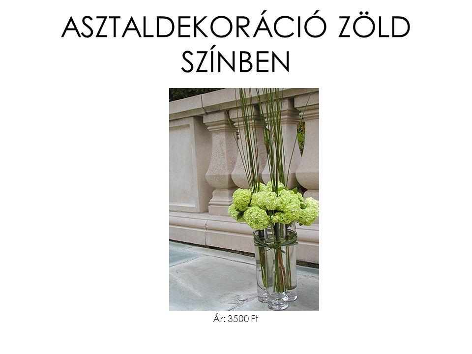 ASZTALDEKORÁCIÓ ZÖLD SZÍNBEN Ár: 3500 Ft