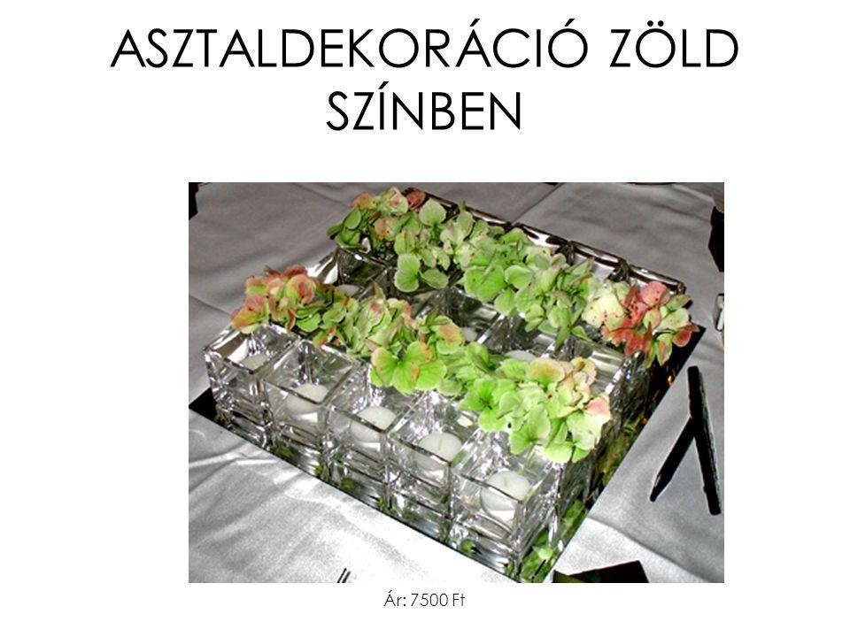 ASZTALDEKORÁCIÓ ZÖLD SZÍNBEN Ár: 7500 Ft
