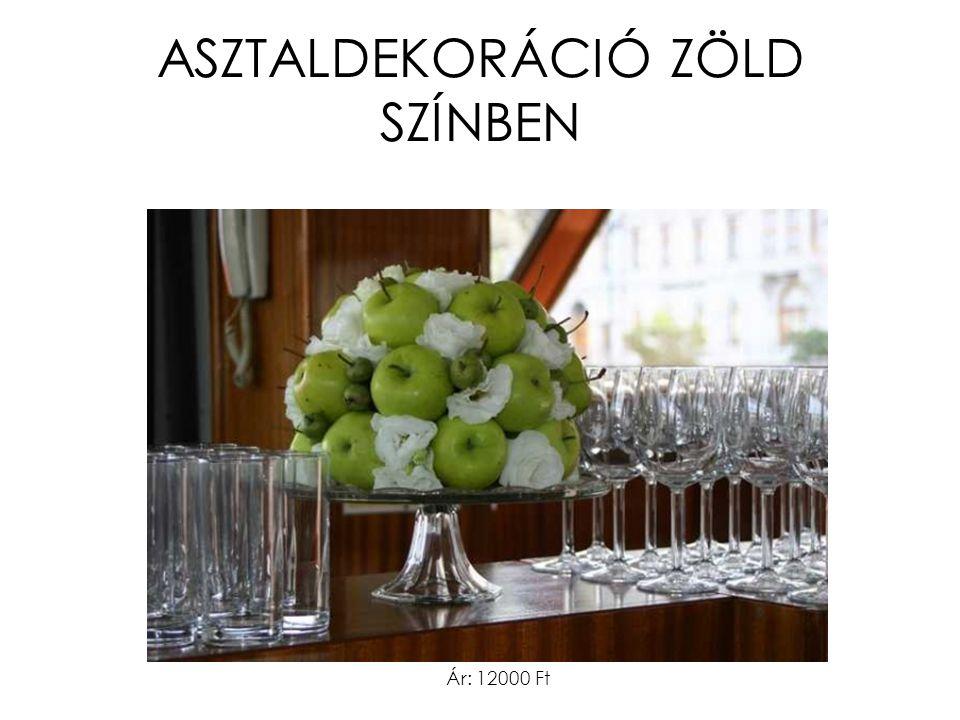 ASZTALDEKORÁCIÓ ZÖLD SZÍNBEN Ár: 12000 Ft