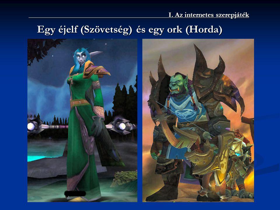 I. Az internetes szerepjáték Egy éjelf (Szövetség) és egy ork (Horda)