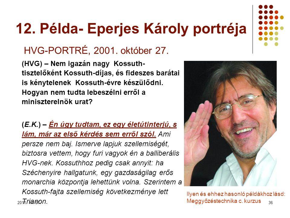 2011. 11. 07.36 HVG-PORTRÉ, 2001. október 27.