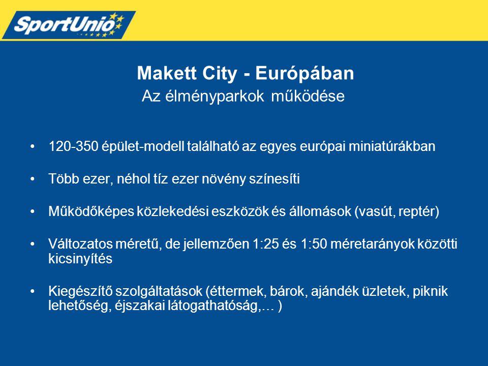 •120-350 épület-modell található az egyes európai miniatúrákban •Több ezer, néhol tíz ezer növény színesíti •Működőképes közlekedési eszközök és állom