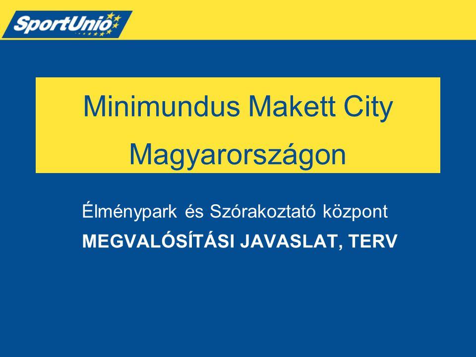 Minimundus Makett City MEGVALÓSÍTÁSI JAVASLAT, TERV Élménypark és Szórakoztató központ Magyarországon