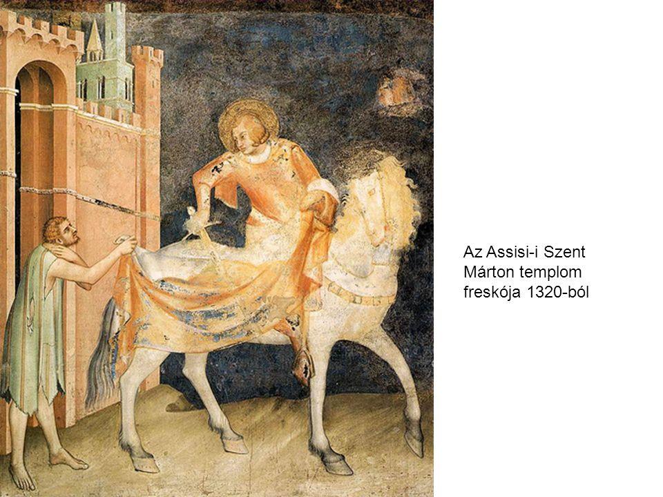 Az Assisi-i Szent Márton templom freskója 1320-ból