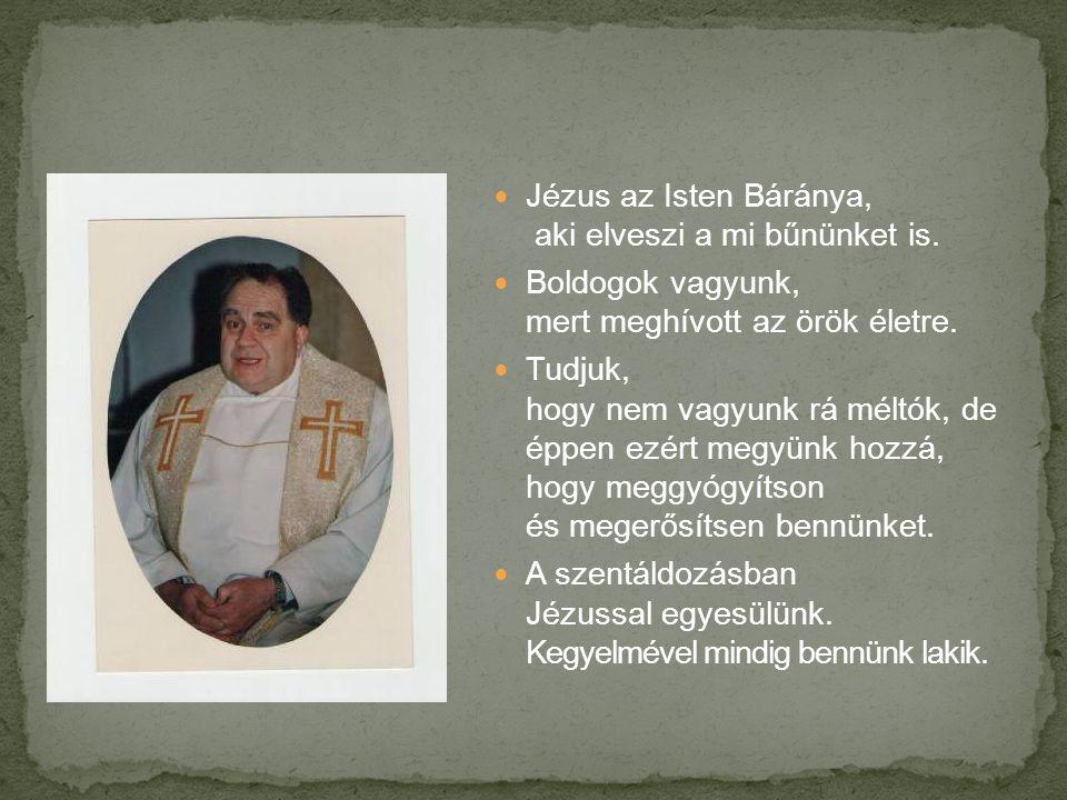  Jézus az Isten Báránya, aki elveszi a mi bűnünket is.