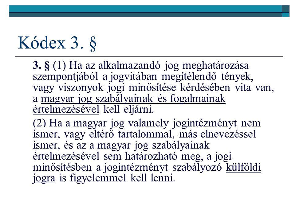Kódex 3.§ 3.