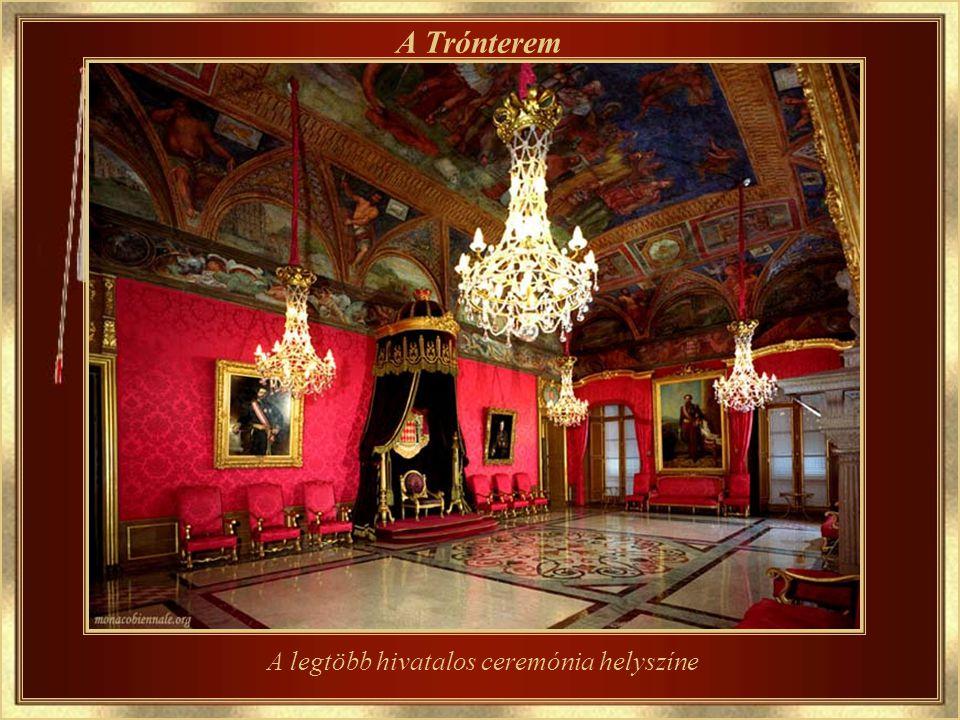 A Grimaldi Palota Az uralkodó herceg hivatalos tartózkodási helye