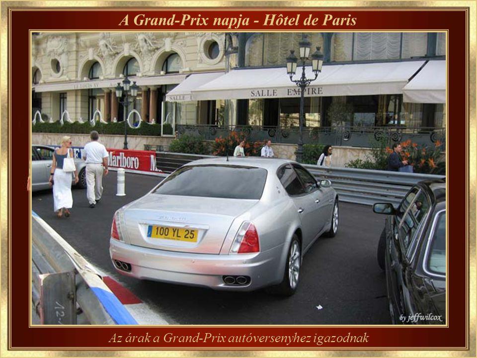 …..háttérben látszik a Pályaudvar felső kijárata A Grand-Prix útvonalának részlete