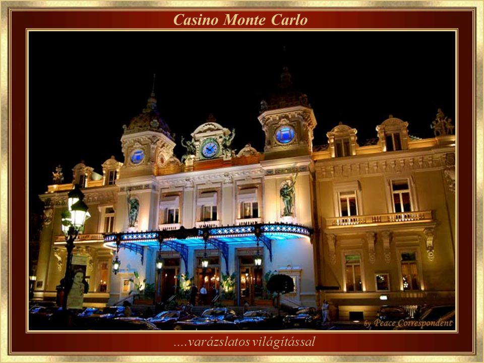 Casino Monte Carlo– az épület részlete Tervezte Charles Garnier francia építész, aki a Párizsi Operát is tervezte