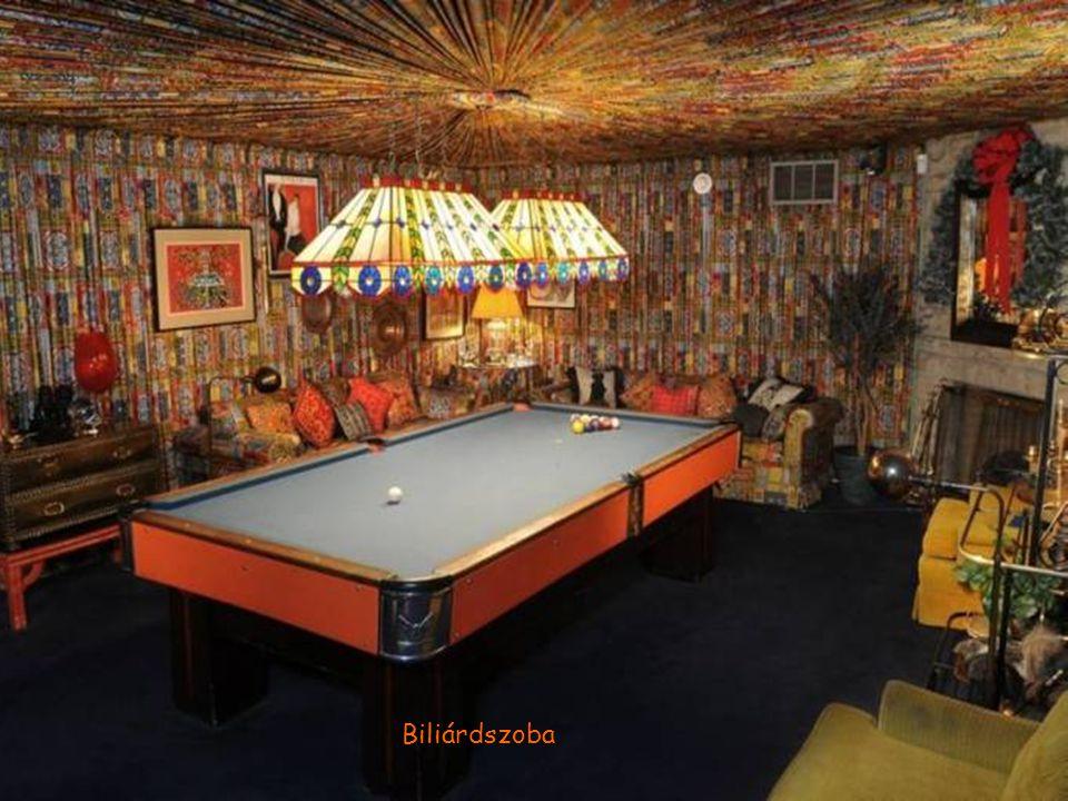 """Elvis által tervezett """"vízesés"""" a """"Dzsungel"""" szobában"""