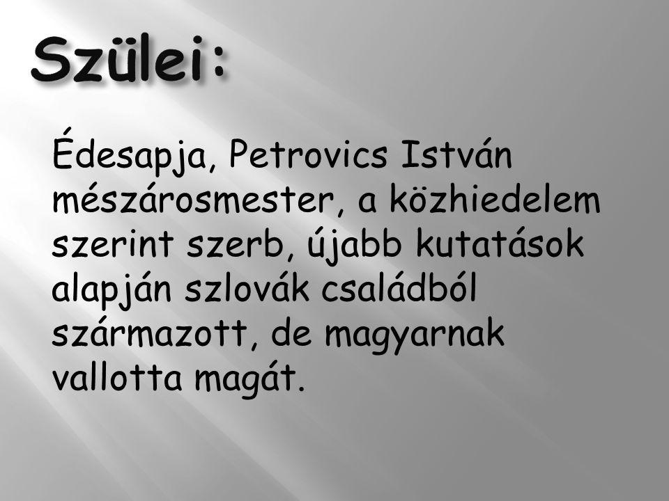 Édesanyja, Hrúz Mária, férjhez- menetele előtt mosónőként és cselédként dolgozott a maglódi evangélikus lelkésznél, Martiny Mihálynál.
