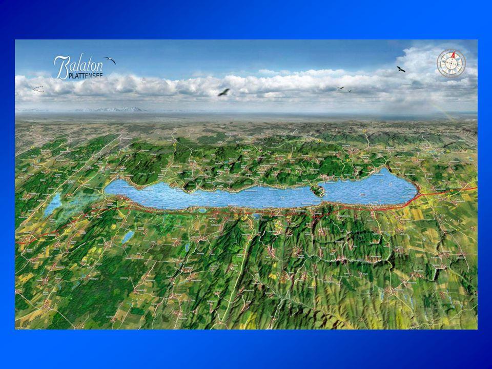 •596 km 2 •77 km hosszú, 1,5-14 km széles •fő táplálói a vízfolyások – főleg a Zala -, illetve a felszínére hulló csapadékvíz •vízfeleslegét a Sió-csatornán vezetik le Földrajzi adatok Sió-csatornaZala