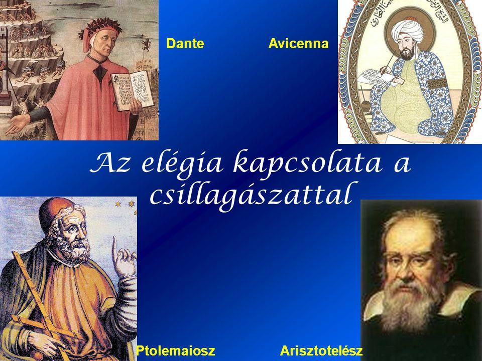 Az elégia kapcsolata a csillagászattal PtolemaioszArisztotelész AvicennaDante