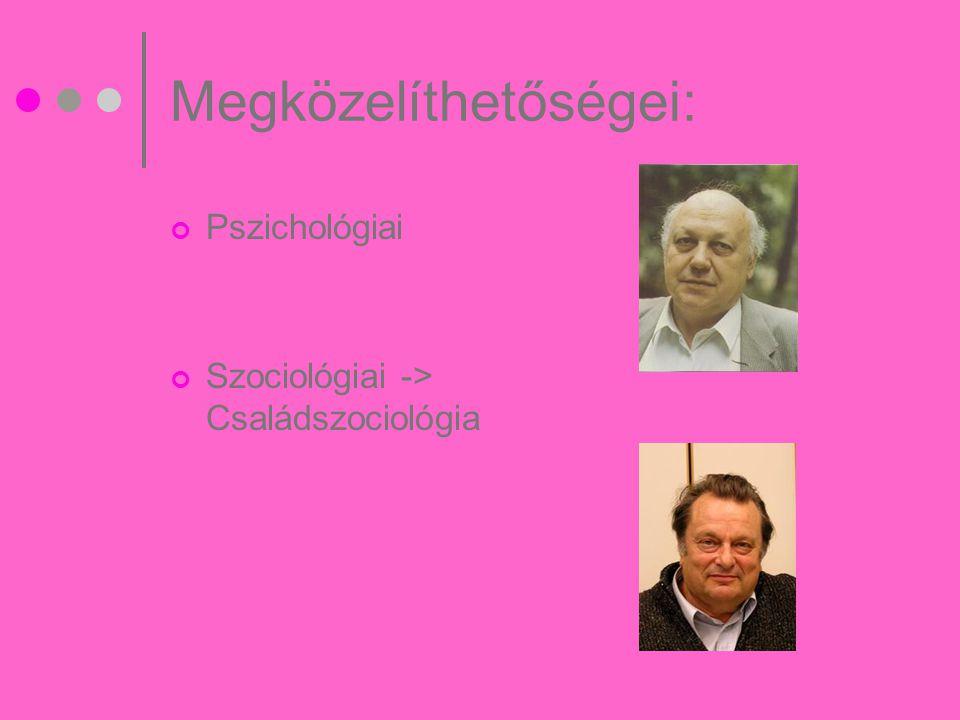 Pszichológiai elméletek: Lélektani hasonlóság elmélet Kiegészítő szükséglet elmélet Sajátos igények elmélet Szülőimágó elmélete Kompenzáló személyiségzavar elmélet /Buda Béla/