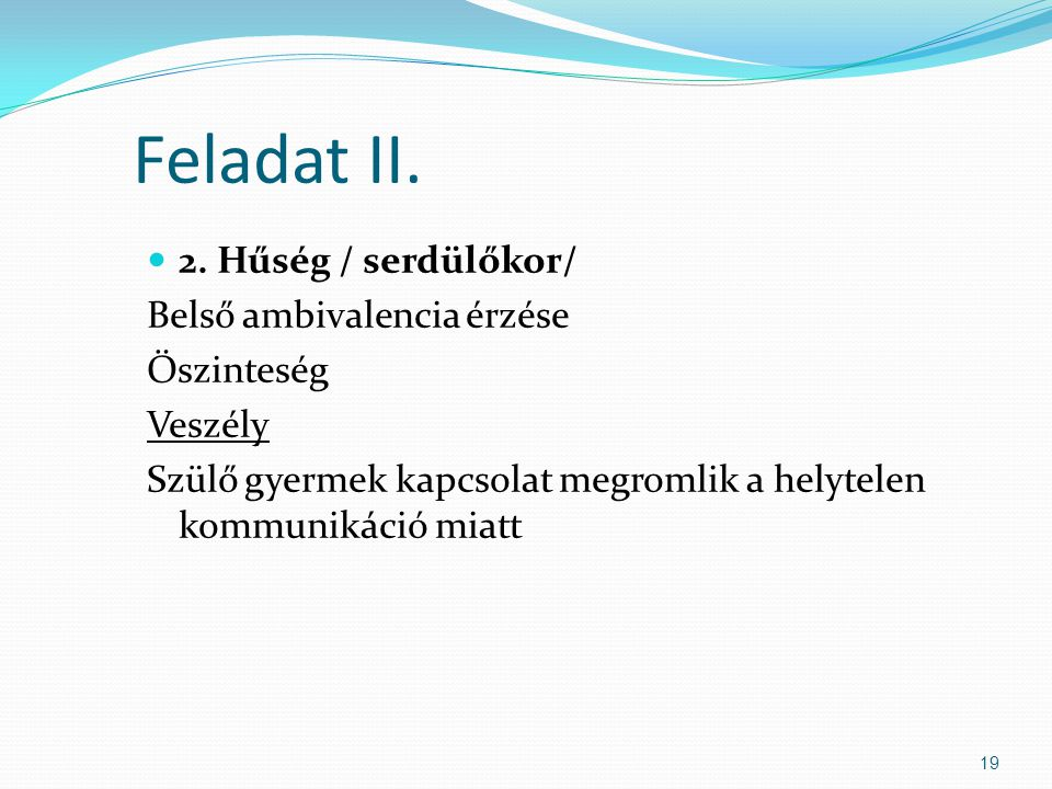 Feladat II. 2.