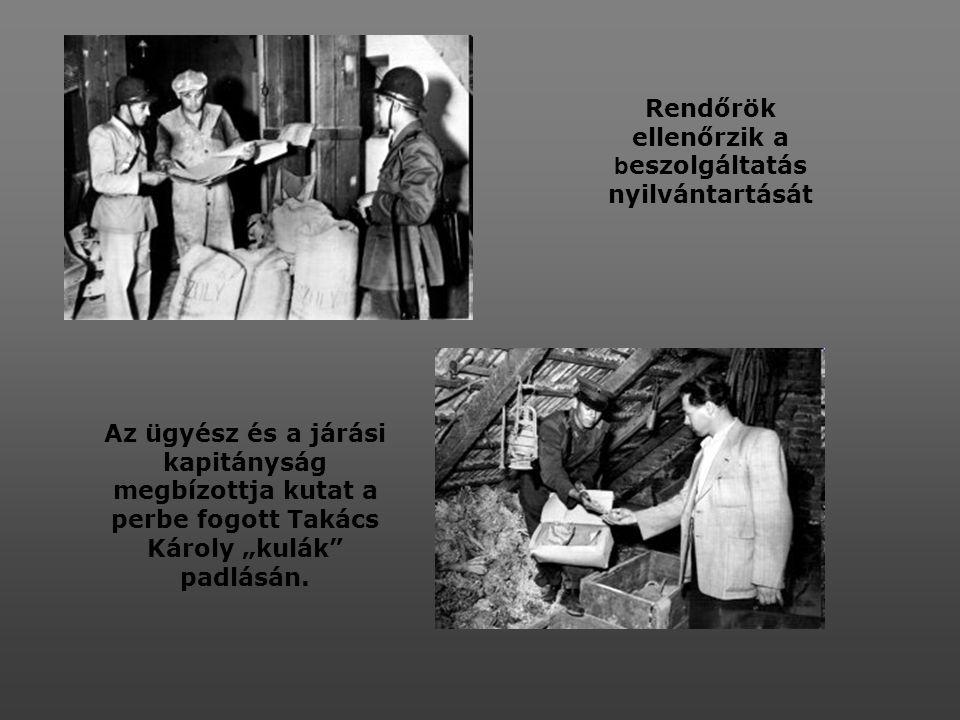 Úttörők köszöntik Rákosi Mátyást 60. születésnapján A Standard gyár államosítása után